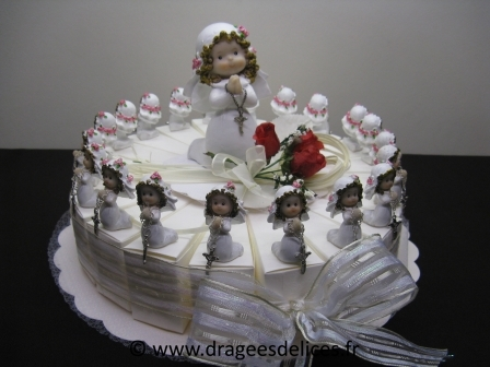 G teau communion fille - Decoration gateau pas cher ...
